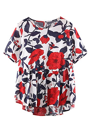 shein-womens-loose-ruffle-hem-peplum-short-sleeve-blouse-top-one-size-red-floral