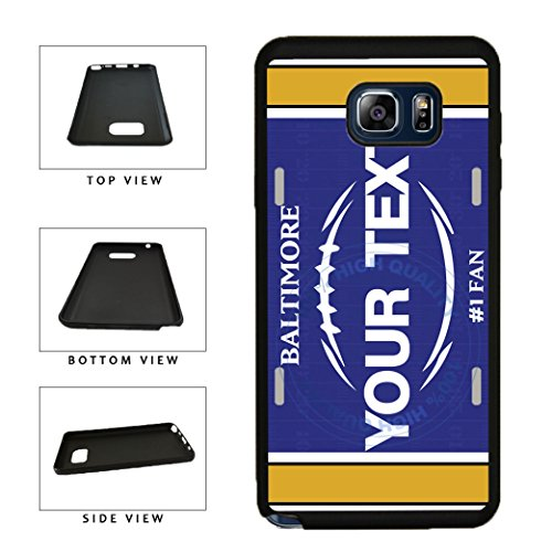 (BleuReign(TM) Personalized Custom Name Football Baltimore License Plate TPU RUBBER SILICONE Phone Case Back Cover For Samsung Galaxy S8)