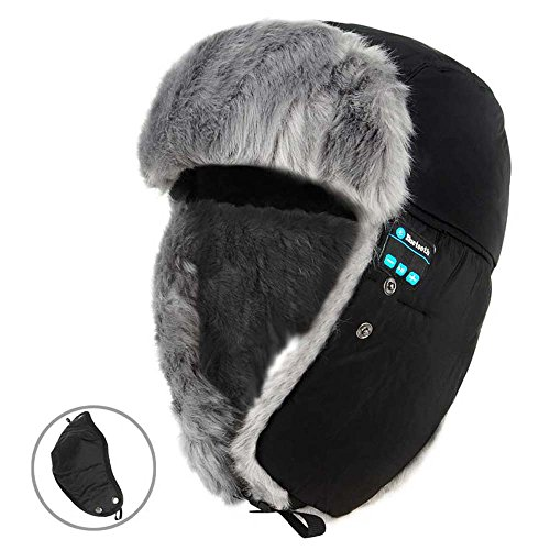 Rumfo Winter Weatherproof Wireless Bluetooth Hat Music Hands-free Headset With Mask Full Face Neck Warmer Outdoor Sporting Hat Suit For Snowboarding, Skiing, Skating And Other Activities