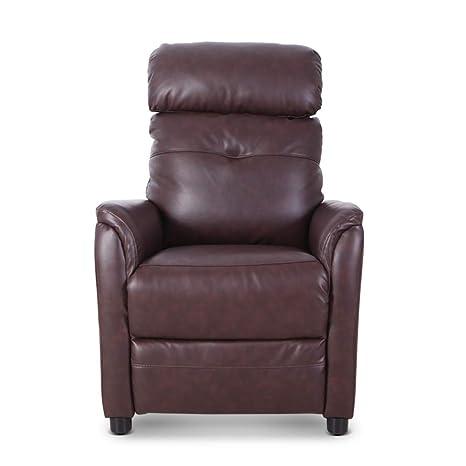 Amazon.com: Qwork Breathable Bonded Leather Single Push Back ...