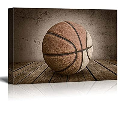 Swish Basketball Rustic Rectangular Sport Panel Celebrating American Sports Traditions, Premium Product, Handsome Style