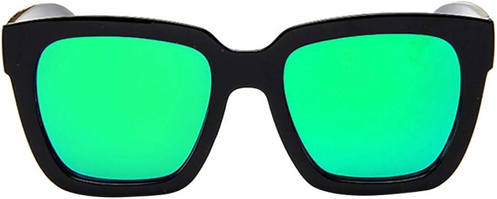 waotier Gafas de sol polarizadas para mujer, lentes espejadas Gafas de moda Gafas de sol coloridas de playa con borde negro