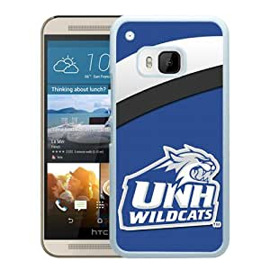 NCAA New Hampshire Wildcats 6 White Hard Shell Phone Case For HTC ONE M9
