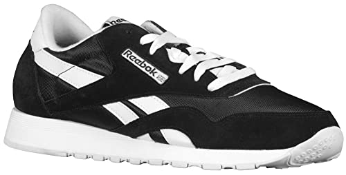 4a2d8d72a7b Image Unavailable. Image not available for. Color  Reebok Mens Classics Nylon  Black White 6604 ...