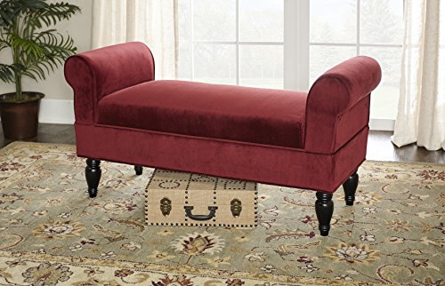 Linon Lillian Bench, Berry