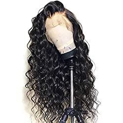 13x6 Lace Front Wig Loose Wave Human Hair Wigs with Baby Hair Lace Front Wigs for Black Women 130% Density Natural Color 20 inch