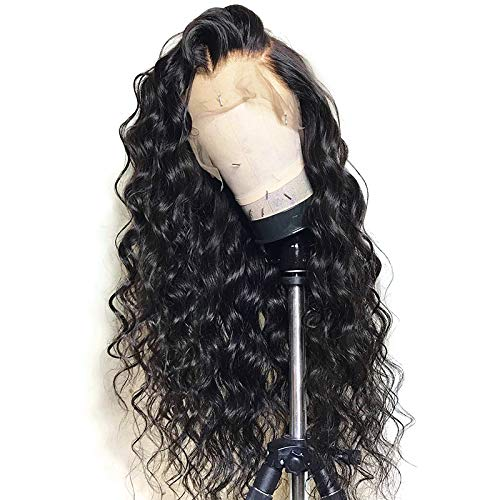 - 13x6 Lace Front Wig Loose Wave Deep Part Human Hair Wigs with Baby Hair Lace Front Wigs for Black Women 130% Density Natural Color 16 inch