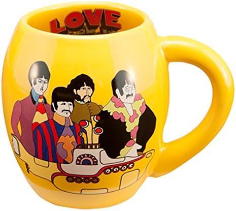 Amazon Com Vandor The Beatles Yellow Submarine 18 Ounce Oval Ceramic Mug 73062 Kitchen Dining