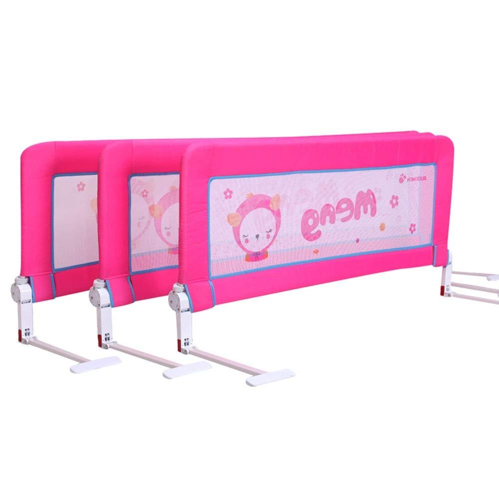 LHA ベッドガードフェンス 子供と子供の安全ベッドガードレール折りたたみ式ベビーベッド用ガードレールガードレール-120cm、150cm、180cm (色 : Pink, サイズ さいず : L-150cm) L-150cm Pink B07NQ3M8WY