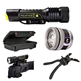 Underwater Kinetics Aqualite S 20o Rechargeable Waterproof Dive Light 500 Lumens Black WITH Extra Aqualite UV-395 Video Led Light AND 308 Ultra Box Scuba Diving