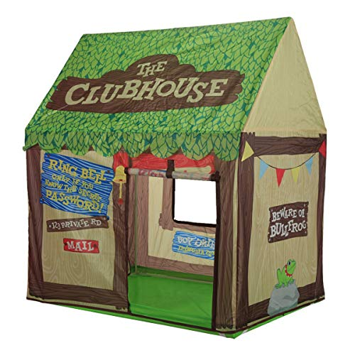 Image of the Kids Play Tent Children Playhouse - Indoor Outdoor Tent Model Clubhouse Green Portable