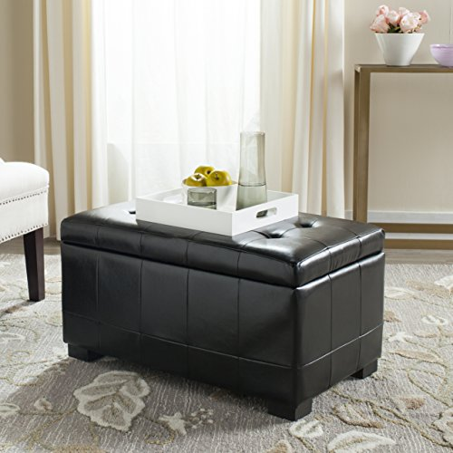 Bench Black Manhattan Storage - Safavieh Small Manhattan Storage Bench, Black