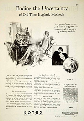 1929 Ad Kotex Tampon Feminine Hygiene Pad Art Deco Health Beauty Women YGH1 - Original Print Ad from PeriodPaper LLC-Collectible Original Print Archive