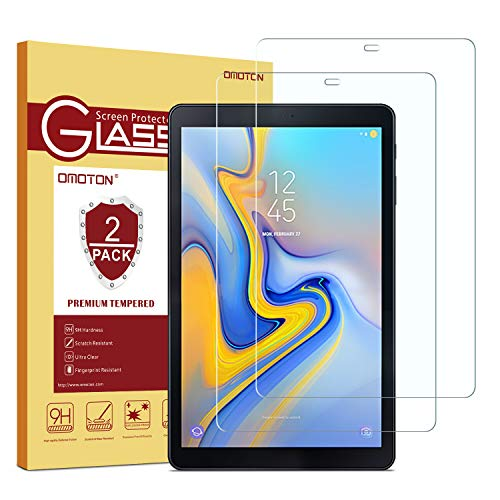 [2 Pack] OMOTON Tempered Glass Screen Protector for Samsung Galaxy Tab A 10.5 (SM-T590), 2018 Release, 10.5-inch