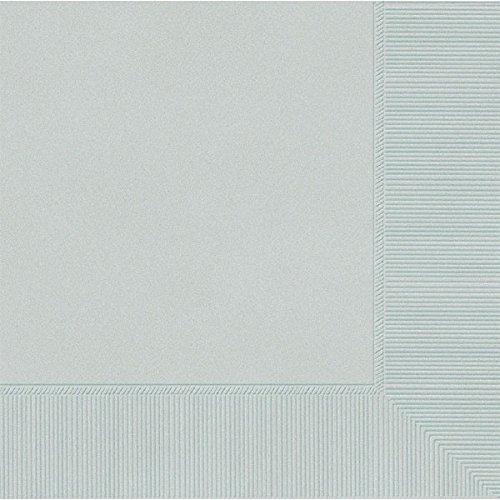 Amscan Silver 3-Ply Paper Luncheon Napkins, 50 Ct. | Party Tableware ()