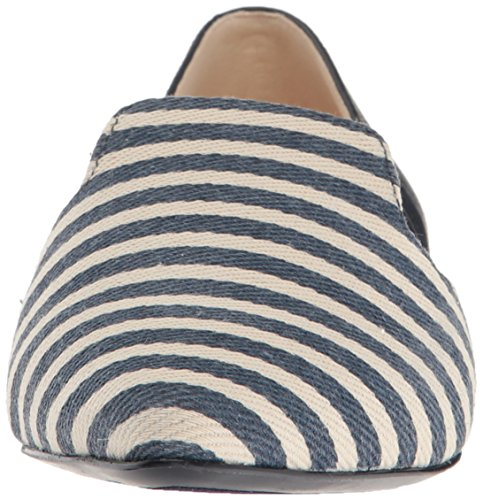 Nine West Damen Shay Stoff spitz flach Navy Weiß / Multi