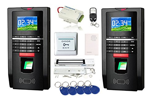 2 Way Tracking Complete Biometric Kits Fingerprint RFID Access Control System 600Lbs Magnetic Lock TCP/IP Time Attandance by MENGQI-CONTROL