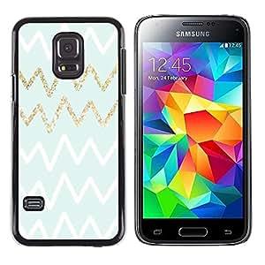 """Pulsar Snap-on Series Teléfono Carcasa Funda Case Caso para Samsung Galaxy S5 Mini ( NOT for regular S5 ) , Patrón Oro Blanco Verde Zag"""""""