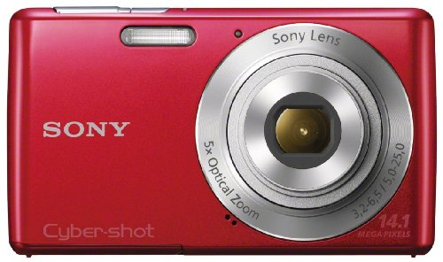 Sony Cyber-shot DSC-W620 14.1 MP Digital Camera with 5x Optical Zoom and 2.7-Inch LCD (Red) (2012 Model) (Red Sony Camera)