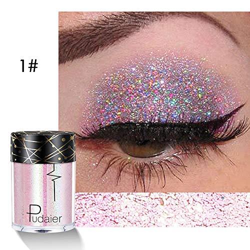 HOTLISTA Women Cosmetic Make Up Glitter Shimmer Eyes Body Lips Powder Eyeshadow