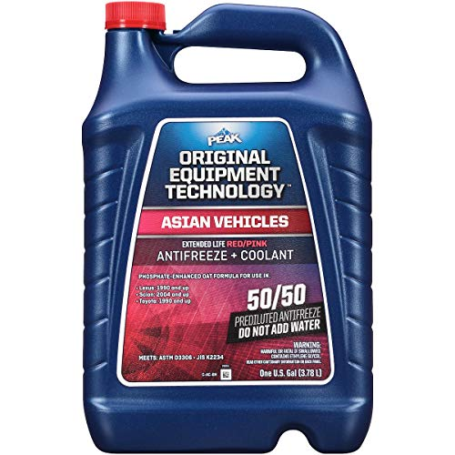 PEAK OE Extended Life Blue Coolant/Antifreeze, Asian Vehicles, Concentrate, 1 Gal