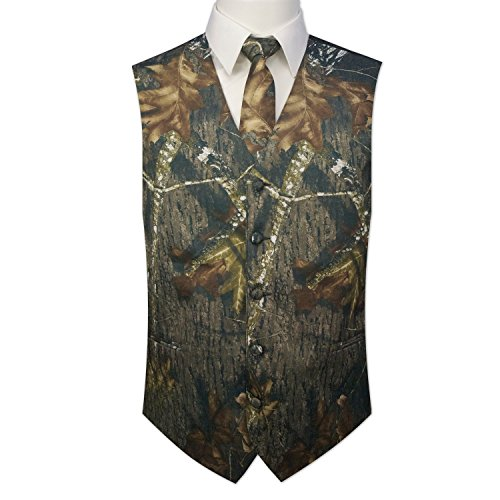 Camouflage Vest & Tie (X-Large with Neck Tie) (Camouflage Mens Vest)