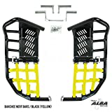Yamaha Banshee YFZ 350 (1987-2006) Propeg Nerf Bars Black with Yellow Net (More Net Color Choices Available)
