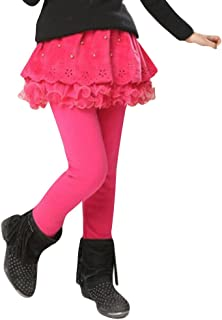 Juleya Bambine Ragazze Leggings di Inverno Gonna Cotone di Spessore Mini Doppie Pantaloni