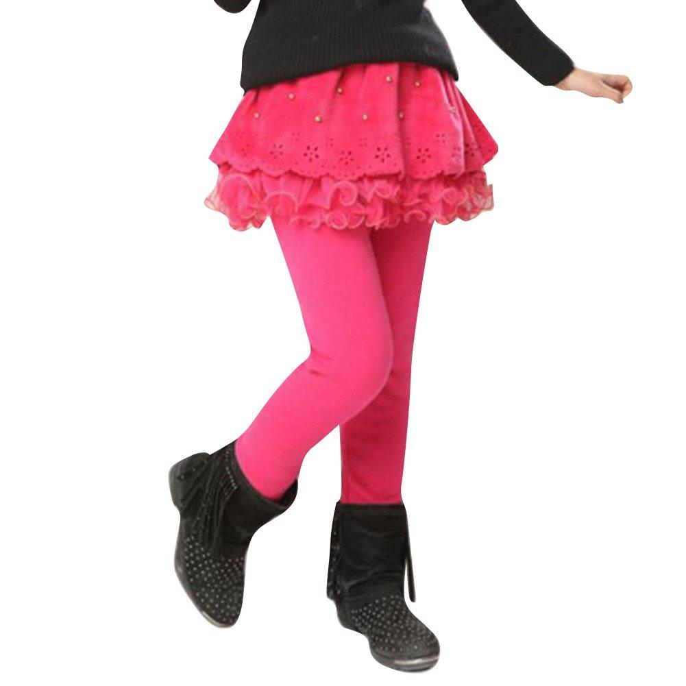 Juleya Bambine Ragazze Leggings di Inverno Gonna cotone di spessore Mini doppie Pantaloni P170316KZ188-J