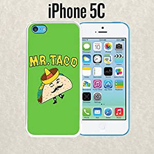 iPhone Case Mexican Troll Taco for iPhone 5c Plastic White (Ships from CA)