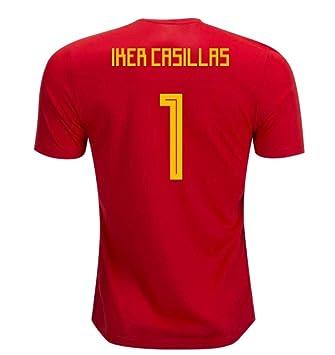 2018-19 Spain Home Football Soccer T-Shirt Camiseta (Iker Casillas 1) - Kids: Amazon.es: Deportes y aire libre