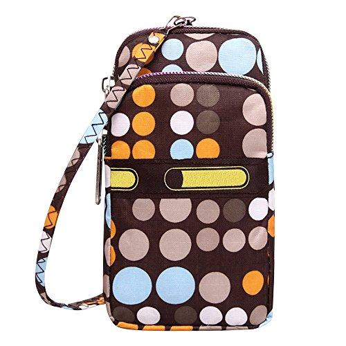 Wocharm Ladies Girls Nylon Design Small Crossbody Shoulder Bag Wristlet Handbags Simple Dot #2