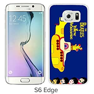 High Quality Samsung Galaxy S6 Edge Case ,beatles yellow submarine White Samsung S6 Edge Cover Unique And Fashion Designed Phone Case