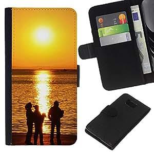 JackGot ( Tramonto Beautiful Nature 118 ) Samsung ALPHA G850 la tarjeta de Crédito Slots PU Funda de cuero Monedero caso cubierta de piel