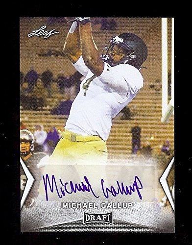 MICHAEL GALLUP Autograph Rookie 2018 Leaf DRAFT Dallas Cowboys/Colorado State Rams AUTOGRAPH RC