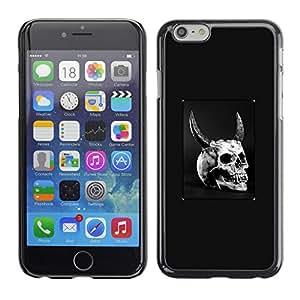 EJOY---Cubierta de la caja de protección la piel dura para el / iPhone 6 / --De cuernos del cráneo del diablo