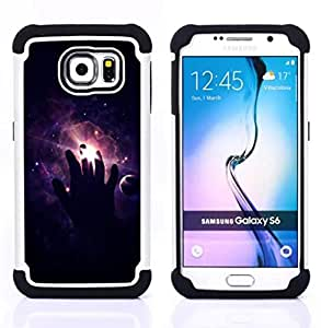 BullDog Case - FOR/Samsung Galaxy S6 G9200 / - / Space Hand /- H??brido Heavy Duty caja del tel??fono protector din??mico - silicona suave