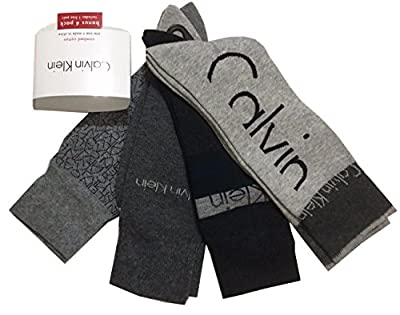 Calvin Klein 4-Pair Combed Cotton Casual/Dress Socks Assorted Grays