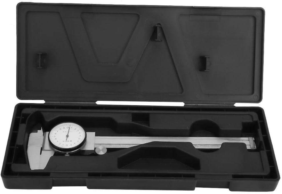 0-150mm 0.01mm Digital Calipaers SDY-SDY Dial Vernier Caliper,Multi-functional 0-150mm Stainless Steel Dial Vernier Caliper Ruler Gauge Measure Tool for Measure Outside Diameter Hole Depth