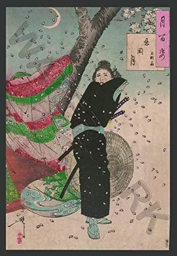 Doppelganger33 Ltd Yoshitoshi 100 Aspects Moon Shrine Huge Canvas Art Print
