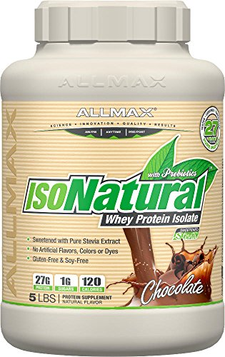 Allmax ISONatural Whey Protein Isolate, Amazing Taste Dietary Supplement, Chocolate 5 Pound