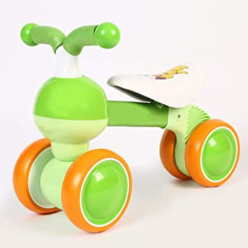 YANWE Bebé Deslizante Bicicleta Montar Juguete Bicicleta Bicicleta Niño Sin Pedal Cuatro Ruedas | Primera Bicicleta De Cuatro Ruedas para Niños De 1 A 3 ...