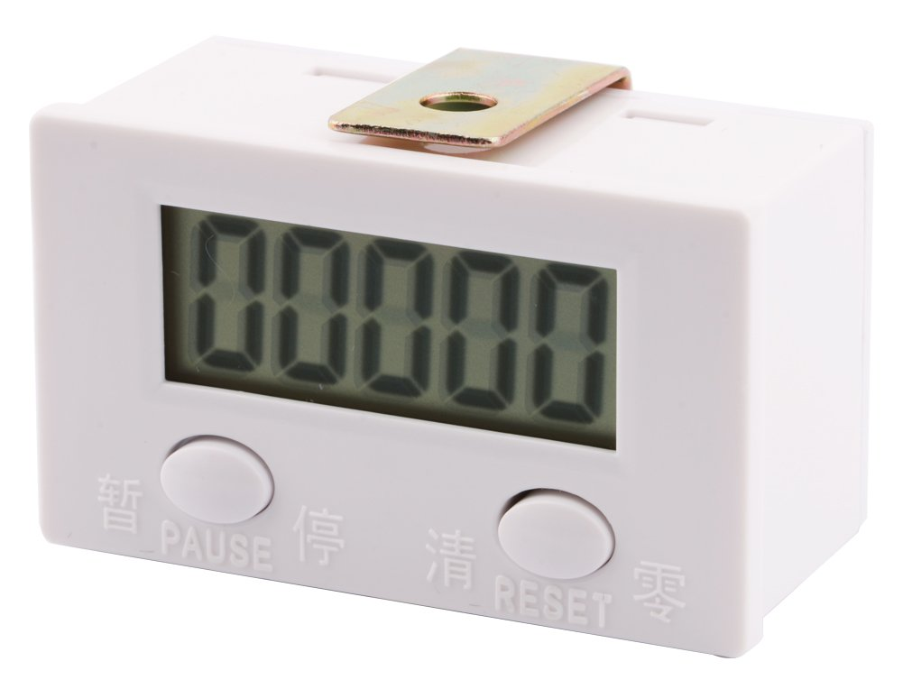 Yeeco 0-99999 Digit Forward LCD Digital Tally Counter Panel Gauge 5-Digit Shockproof Electronic Punch Counter Totalizer Accumulator Tester