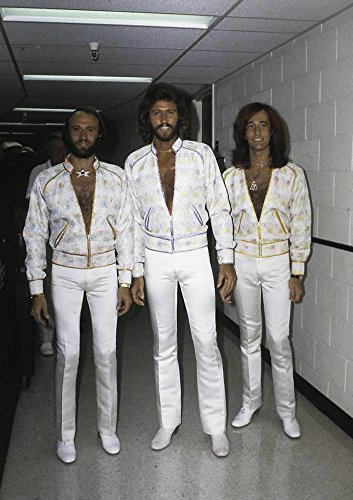 the Bee Gees wearing white costumes Photo Print (24 x 30) -