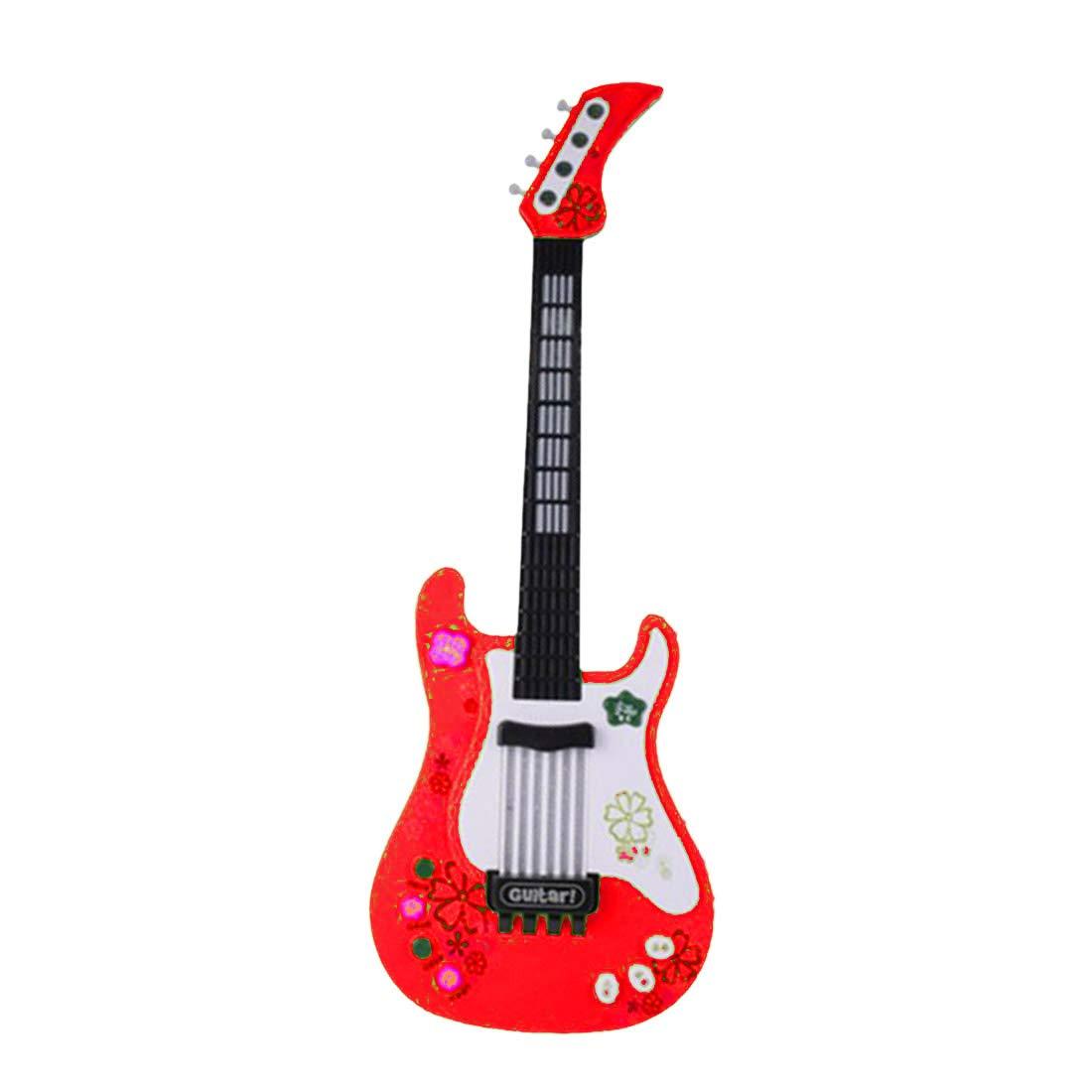 Tosbess 4 Saiten Kindergitarre Kinder Gitarre Pä dagogisches Spielzeug fü r ab 3 Jahre, 57CM