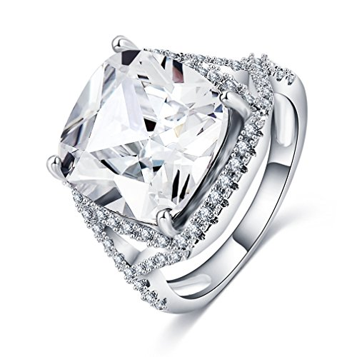 FENDINA Womens Sparkling Cushion Cut 3ct Austrian Crystal for sale  Delivered anywhere in USA