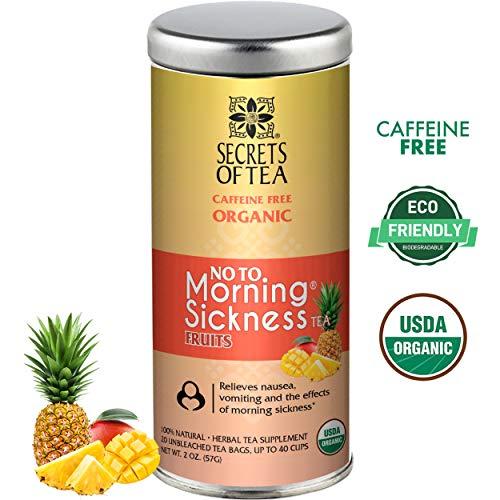 Morning Sickness Magic - Secrets of Tea - No To Morning Sickness - Pregnancy Tea-Certified USDA Organic No Caffeine- Morning Sickness Relief,Nausea, Constipation (Fruits)
