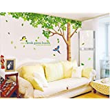 Rainbow Fox Large Pink Sakura Flower Cherry Blossom Tree Wall Sticker Decals PVC Removable Wall Decal for Nursery Girls and Boys Children's Bedroom (tree)