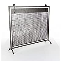 Benzara Enticing Metal Fireplace Screen,...