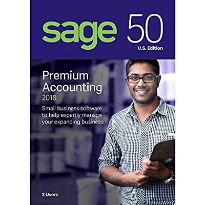 Sage Software Sage 50 Premium Accounting 2018 U.S. 2-User (2-Users)